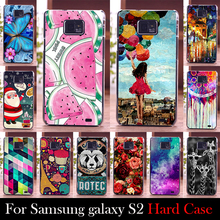 For Samsung Galaxy S2 i9100 Case Hard Plastic Mobile Phone Cover Case DIY Color Paitn Cellphone Bag Shell  Shipping Free