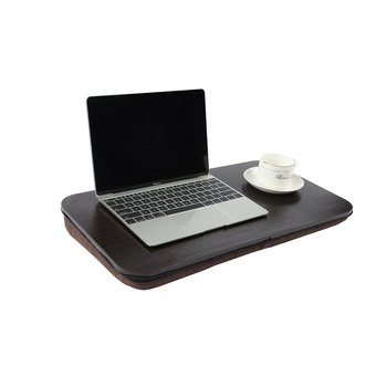 Wooden Knee Laptop Stand Holder Computer Lap Desk With Cushion Buy Laptop Stand Laptop Stand Holder Lap Desk Product On Alibaba Com