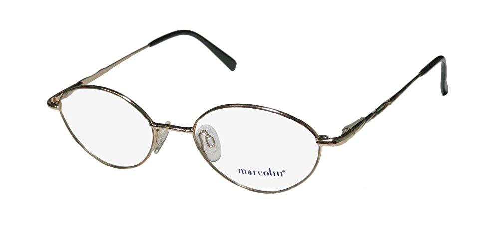 3303c8298ab Get Quotations · Marcolin 2044 Mens Womens Designer Full-rim Titanium  Genuine Made In Japan Eyeglasses