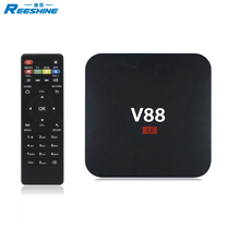 cheapest rk3229 tv box download hd 1080p video 1gb 8gb V88 android tv box motherboard