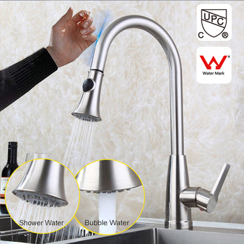 Brushed Nickel Kitchen Faucet Pull Out Spray Sink Tap Sink Smart Touch  Sensor - Buy Brushed Nickel Kitchen Faucet,Pull Out Spray Sink Tap,Sink  Smart ...
