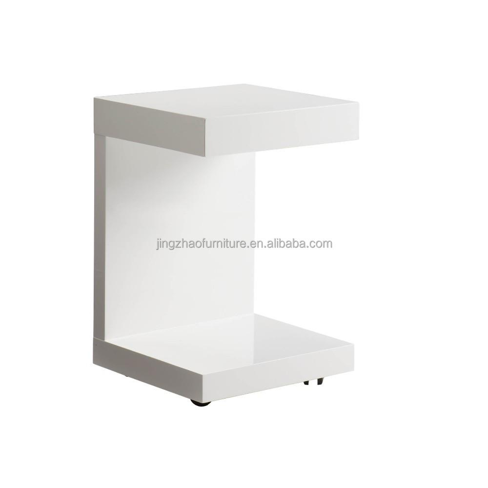 Hoogglans wit ct-2152 bijzettafel met lade-salontafels-product-ID ...
