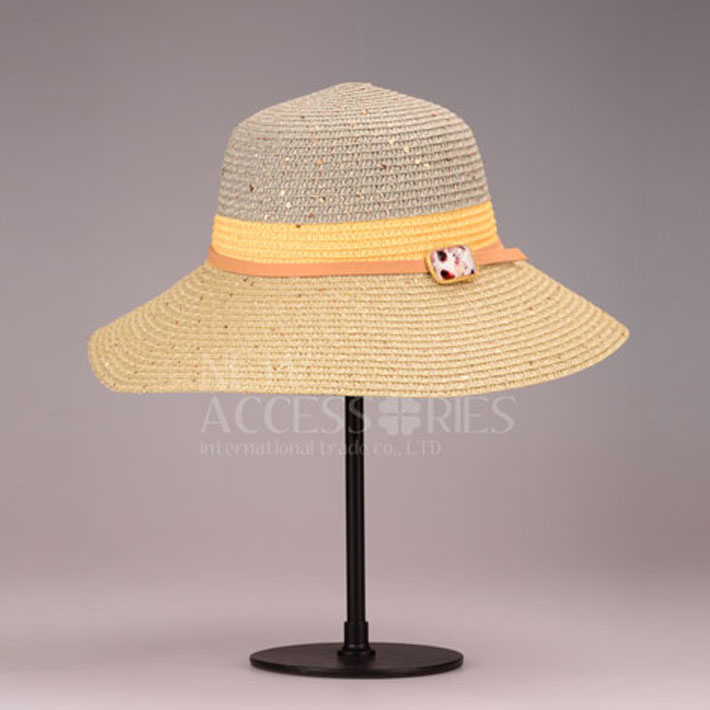 multi color sequin straw hats with rostone