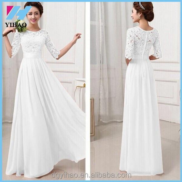 Long dress putih baby