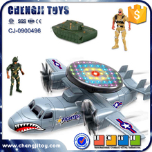 Battery operated military suit electric plane for kids army toy