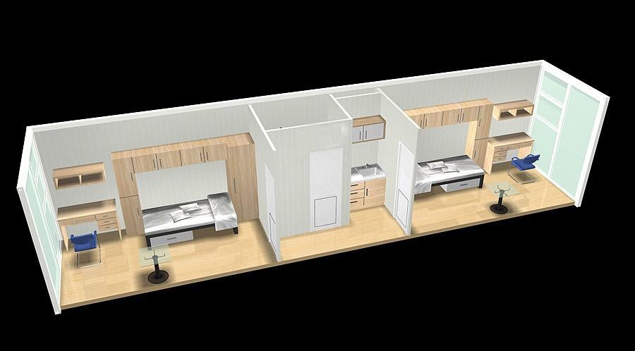 Container House Diseo De Interiores China Fabrica