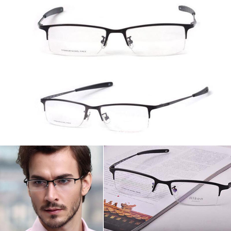 2a857f92847 Get Quotations · NEW Fashing Pure Titanium men glasses optical frames  spectacle Eyeglass frames Black
