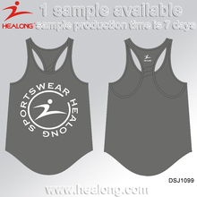 Cheap Sublimation Sport Gym Training Vest Shirt