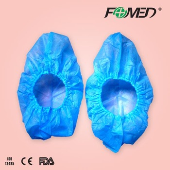 Medical consumable disposable shoe cover with elastic