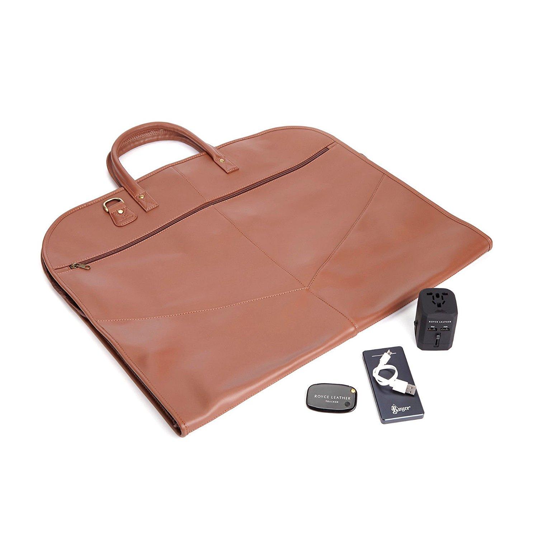 Royce Leather Luxury Travel Garment Bag Travel Set