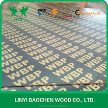 12mm 15mm 18mm WBP brown film faced plywood 4x8 plywood cheap plywood