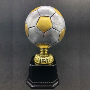 Wholesale customised resin soccer trophy football