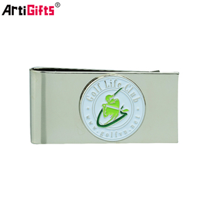 Factory direct new cheap laser engraved custom logo titanium money clip