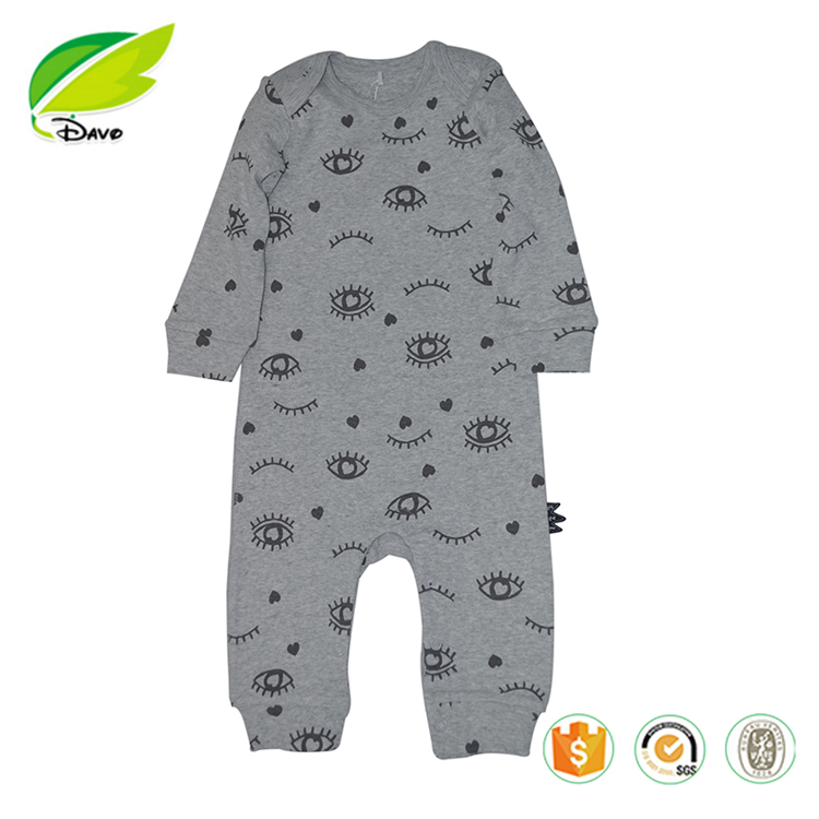 100% Cotton Newborn lmport Baby Clothes Print long sleeve Baby Romper