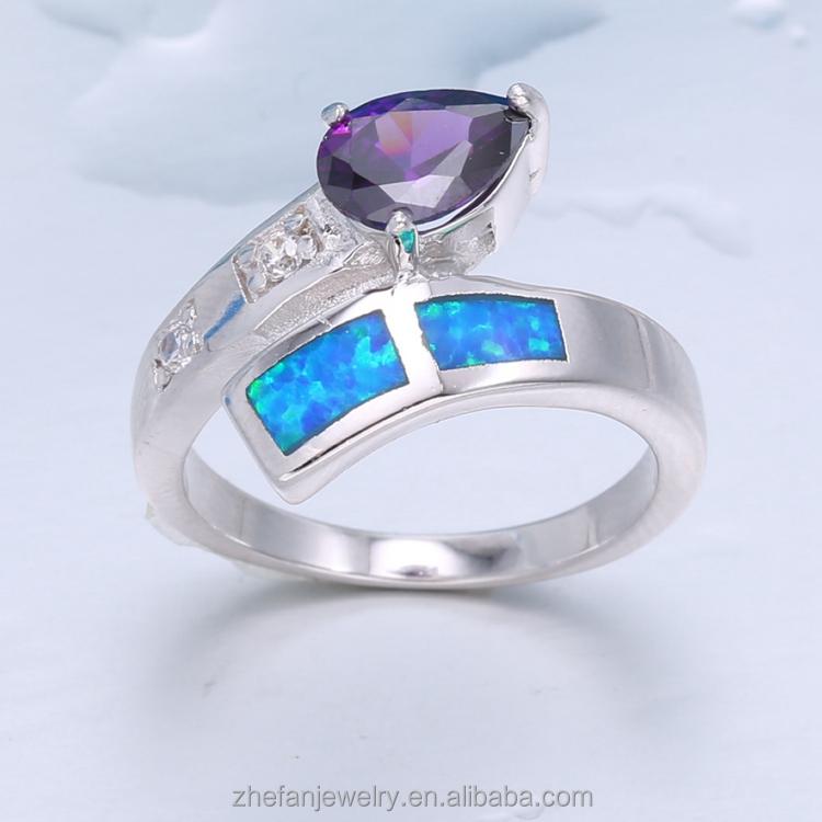 Opale de feu belle en vrac acheter de chine dames doigt bague en or design