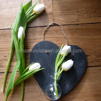 Heart Shape Slate Hanging Flower Vase Buy Slate Hanging Flower