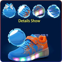 Factory wholesale OEM USB charge Children kids Led shoes sneakers Cool casual shoes for boys girls,led light kids shoes