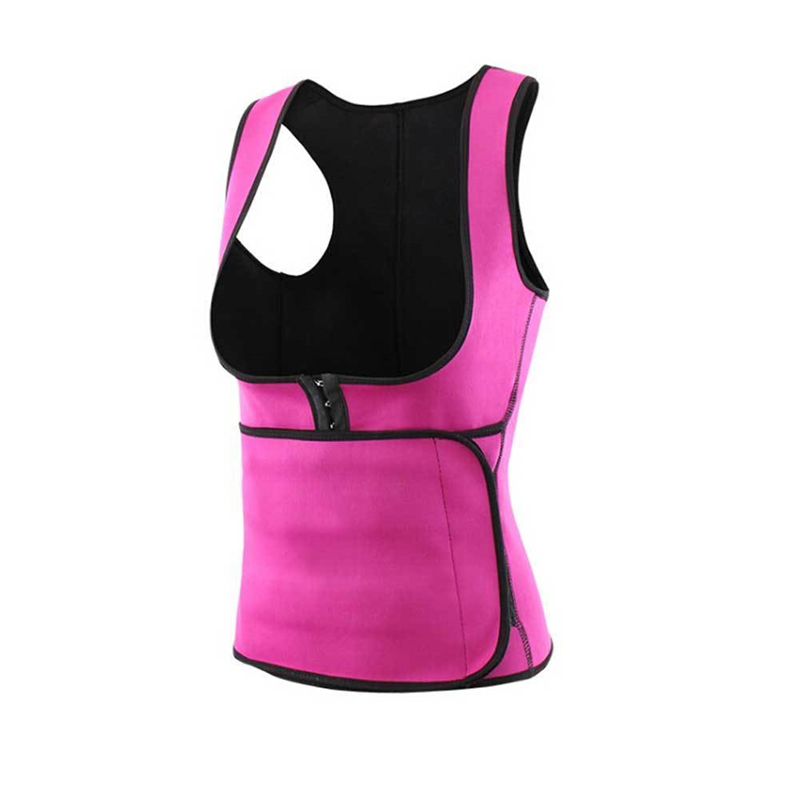 Women Neoprene Sport Adjustable Waist Trainer Sauna Sweat Vest For Weight Loss, Customized colors