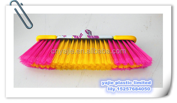 PVC coated handles wooden handles brooms printed plastic brooms