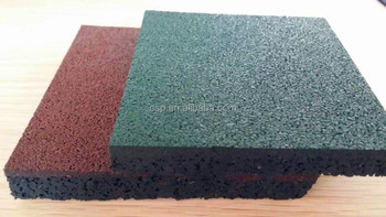 Recycled Rubber Patio Pavers Outdoor Rubber Grain Tile For
