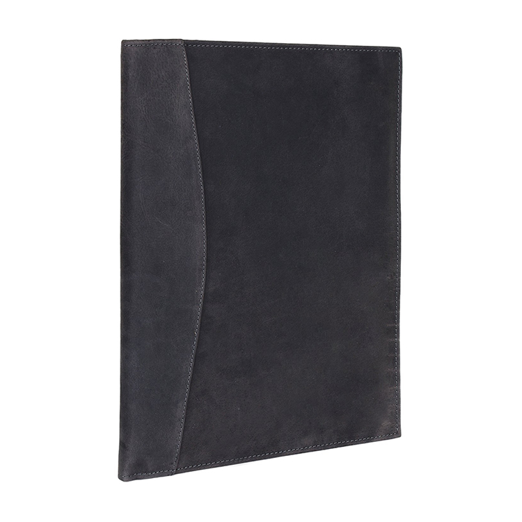 Customize Handmade Genuine Leather / PU Leather Business Portfolio Durable Padfolio with Sleeves for Documents