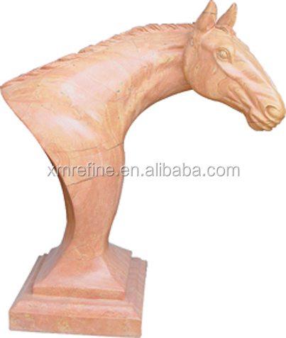 horse head marble sculpture,natural stone statue for garden use
