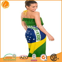 custom solid color cotton velour brazil beach towel supersoft Cheap 2017 China high quality factory manufacture flag beach towel