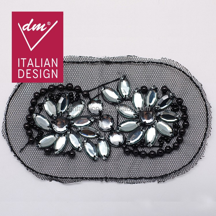 Most popular indian rhinestone sew on bling applique
