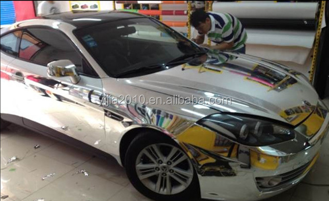 Factory Wholesale 1.52 x 30M Silver Mirror Chrome Vinyl Car Wrap