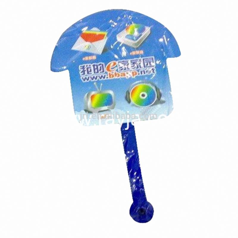 PP/PVC cartoon plastic hand fan & logo printing(European standard )