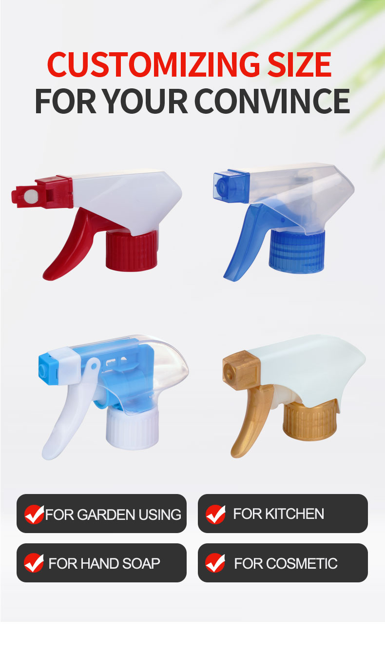 28/400 28/410 PP Plastic Garden Finger Trigger Sprayer for bottle