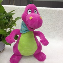 Cute purple dragon toy dragon soft toy dinosaur with bib custom plush