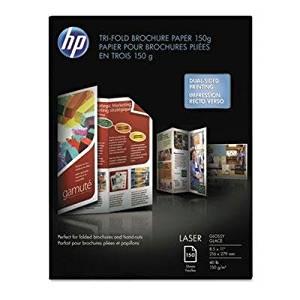 Brand New Hp Tri-Fold Laser Brochure Paper 97 Brightness 40Lb 8-1/2 X 11 White 150 /Pack