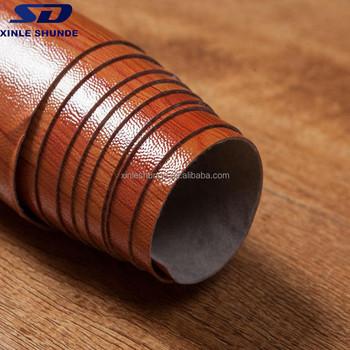 Wood Texture Durable Pvc Vinyl Flooring In Rolls