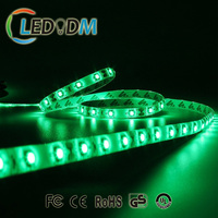 Green color smd led strip 3528 DC12V/24V 60Leds/M led strip light