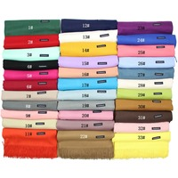 ladies winter wholesale solid multi-colors colors pashmina scarf cashmere fashion scarf