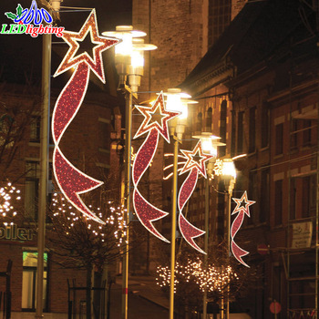 outdoor pole decorative christmas street light shooting star christmas light decorative christmas street lighting - Shooting Star Christmas Lights Outdoor