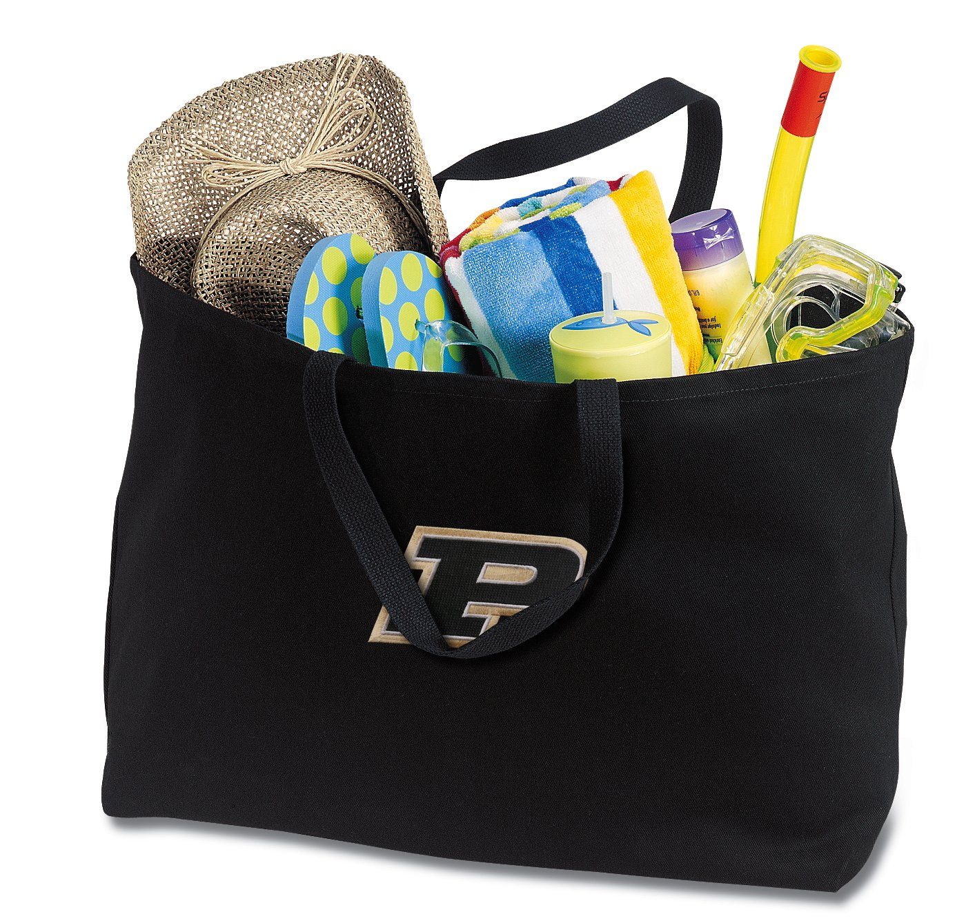 JUMBO Purdue Tote Bag or Large Canvas Purdue University Shopping Bag
