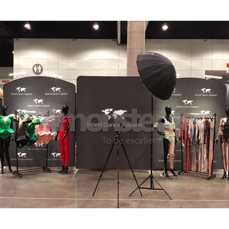 Hot sale 10ft portable trade show standard exhibition booth 3x3 display stands