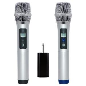 Metal Cordless Mic set with Mini Portable Receiver 6.5mm