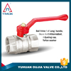 high quality threaded brass ball valve with long red handle 1/2''-4'' dn15-dn100 TP-5044 in TMOK