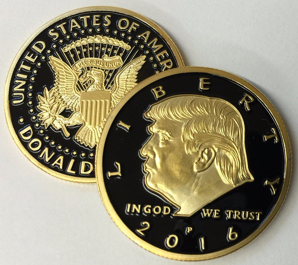 Matt Gold Eagle Crest 2017 Donald Trump Challenge Coins - Buy Donald Trump  Challenge Coin,Eagle Crest Challege Coins,2017 Trump Coins Product on