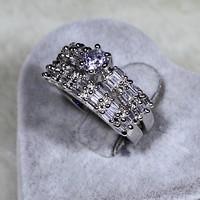 SJYR5592 Wedding Gemstone Ring Set , White Gold Ring Set, 1 Carat Diamond Ring Set 2 in 1
