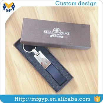 New fashion design leather strap keychain for promotion gift