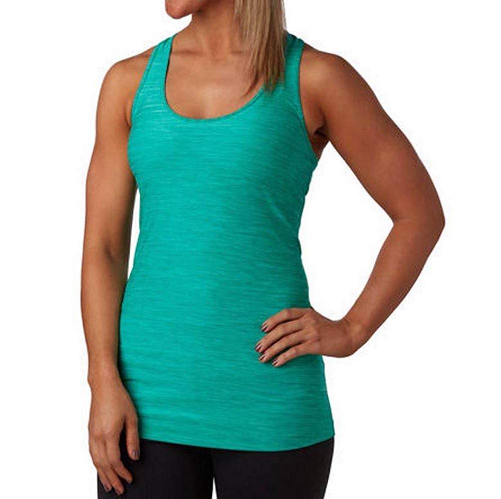 3cfb1c653b4e8c Kirkland Womens Athletic Yoga Racerback Tank Top Moisture Wicking Shirt  Green XL