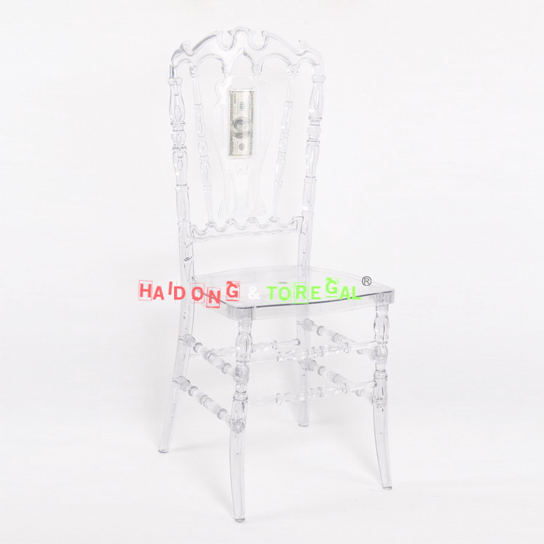 Resin Plastic Royal Chair Plastic PC crystal resin Royal Chair 3