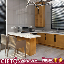 modular furniture water resistant pvc laminate door kitchen cabinet with plate rack for hotel