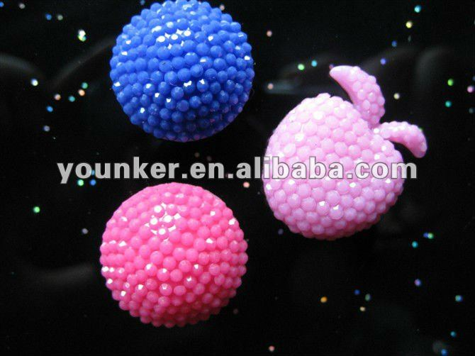 2012 New Design Polyester Beads,Resin Beads