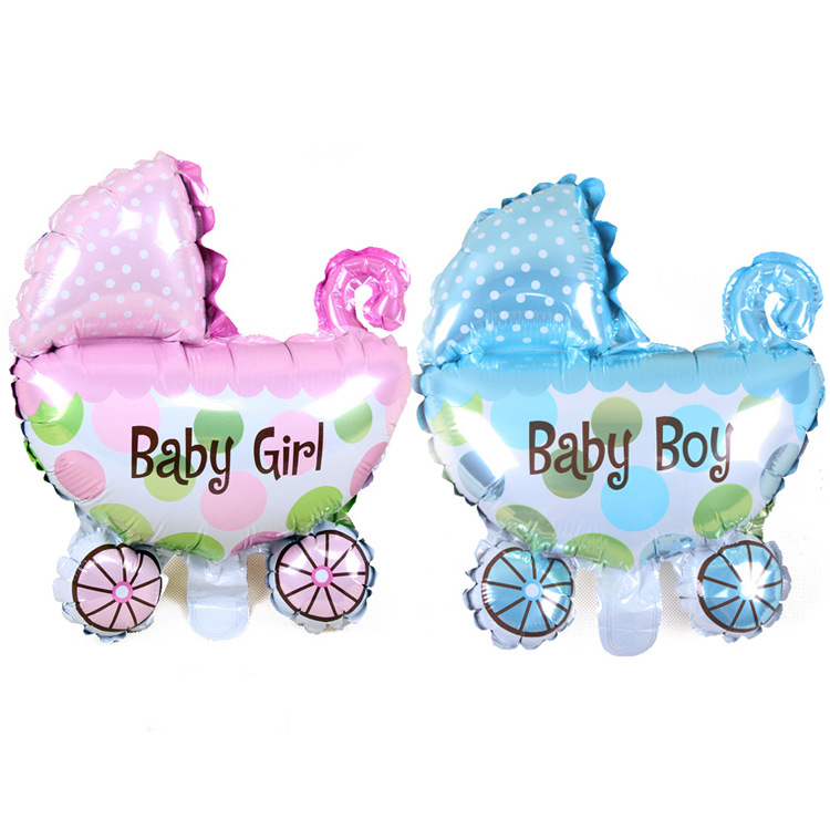 10inch Baby Carriage Foil Balloons Baby Shower Inflatable Toys Balloon For Kids Birthday Wedding Party Decoration