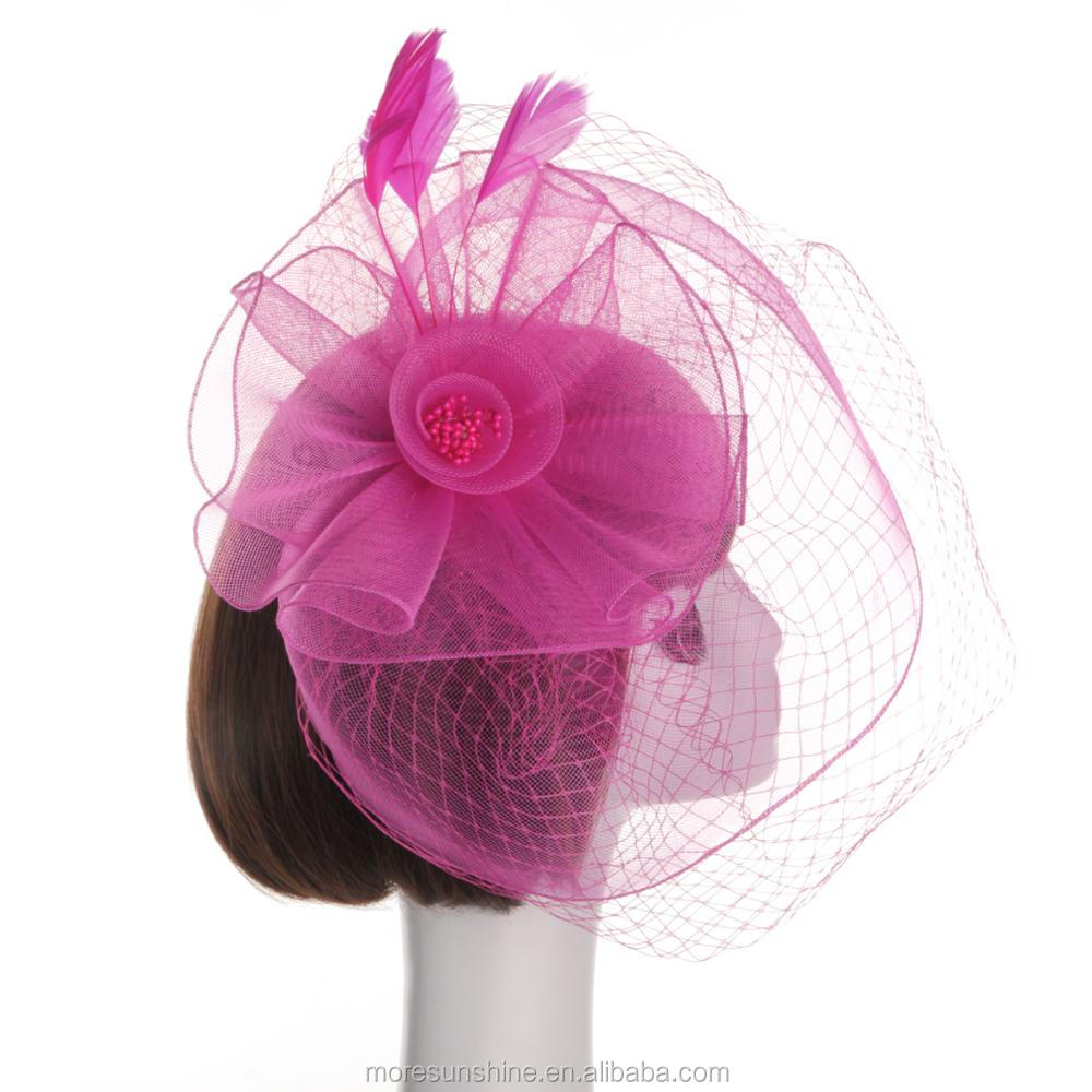 Fancy Hair Accessories Lace Fascinator Lady Church Hat - Buy Ladies ... ef1f3a9900e